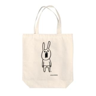ウサギのウーのシンプルさん Tote bags