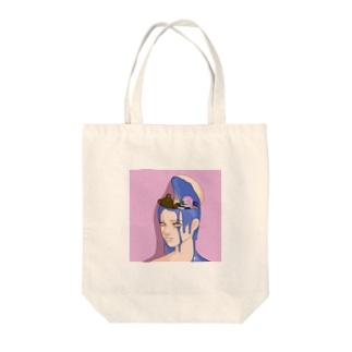 In my head Tote bags