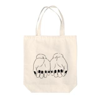 推しを持つ手-淡色ベース- Tote bags