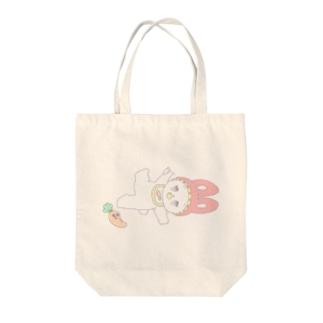 ポップな赤ちゃんうさぎ Tote bags