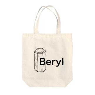 ベリルの結晶原石の晶癖 Tote bags