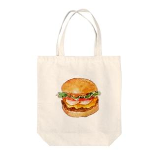 ハンバーガー トートバッグ