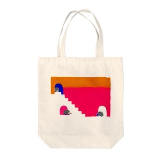 ハリハリネズミさんの第一歩 Tote bags