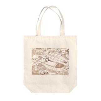 村 Tote bags