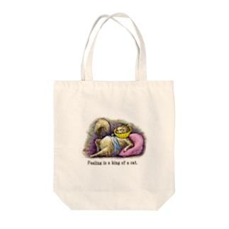 エリザベスCAT Tote bags