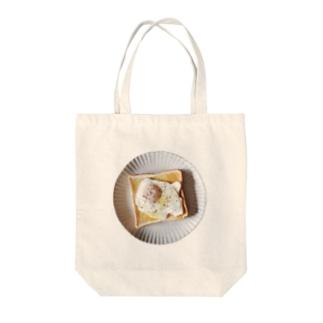 目玉焼きトースト Tote bags