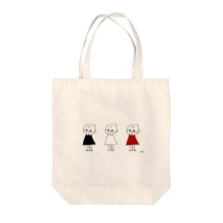 3人のピッちゃん Tote bags