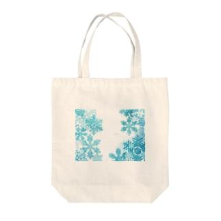 結晶 Tote bags