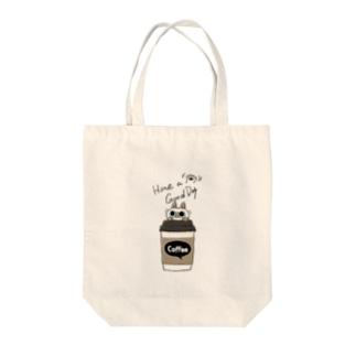 いい日になるコーヒーB Tote bags