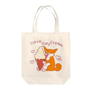 ソフトクリームと柴犬さん(赤柴) Tote bags