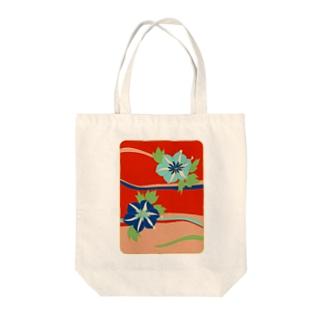 和やか花柄 Tote bags
