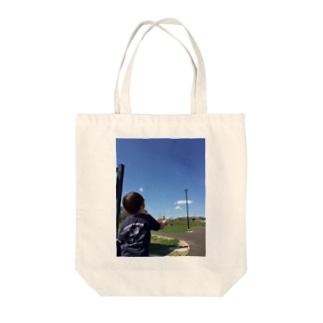 しゃぼん玉むすこと青空 Tote bags