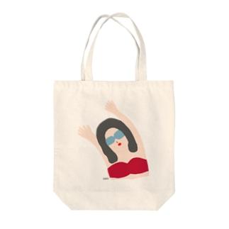 エイミー. 紅 Tote bags