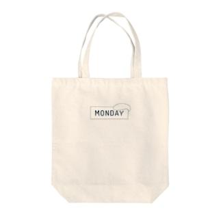 Monday-obake001 Tote bags