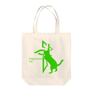 enlightened cat Tote bags