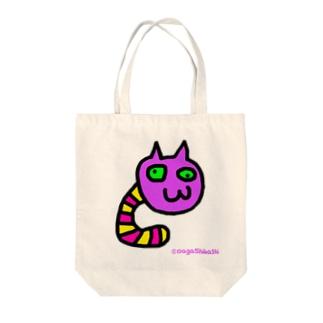 めらんぷ【ネコみみず】 Tote bags