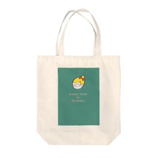 定時退社のマリーちゃん Tote bags