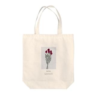 花言葉 rose Tote bags