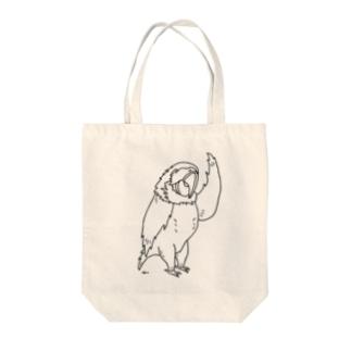 オウムスター 鳥 動物イラスト Tote bags