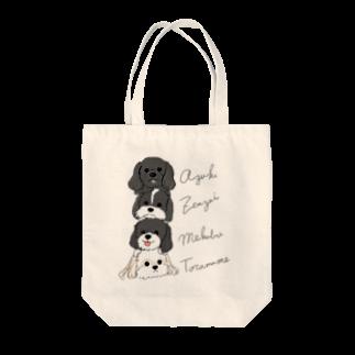 iccaのあずきとらさんぜんちゃんめっちゃん4匹縦 Tote bags
