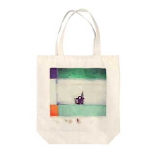 水彩画風乳牛2 Tote bags