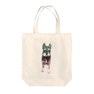 ミニチュアシュナウザー クレイ Tote bags