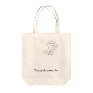 ねこパラシュート部隊 Tote bags