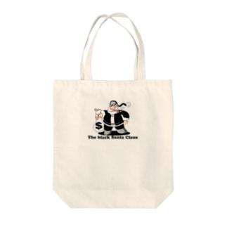 BLACK SANTA Tote bags
