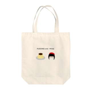 PUDDING and ROSE Tote bags