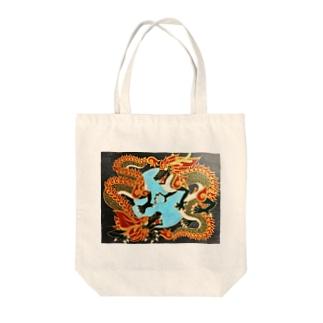 双龍図 Tote bags