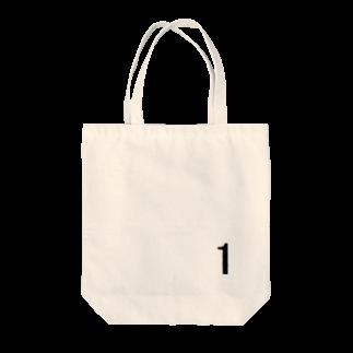 アメリカン★ベースの背番号 1 Tote bags