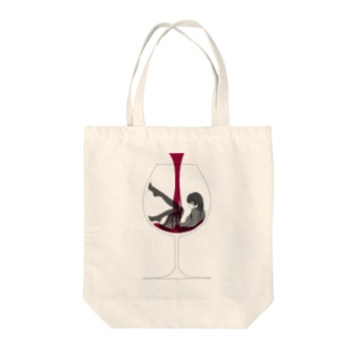 Spit or Swallow Tote bags