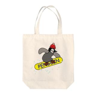 スノボペンギン Tote bags