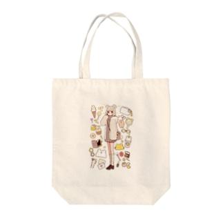 kumachan Tote bags