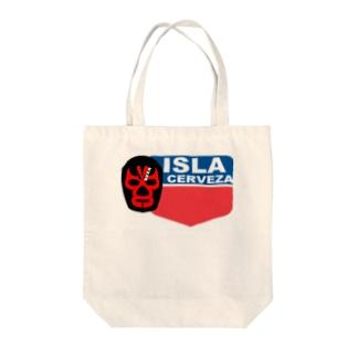 NAME_TAG ISLA CERVEZA Tote bags