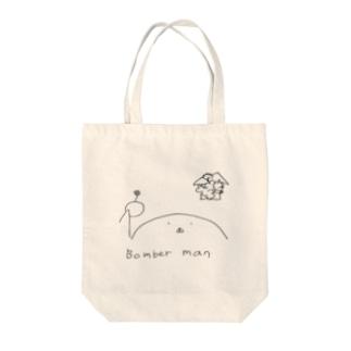 ボンバー男 Tote bags