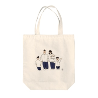 煮豆ファミリー Tote bags