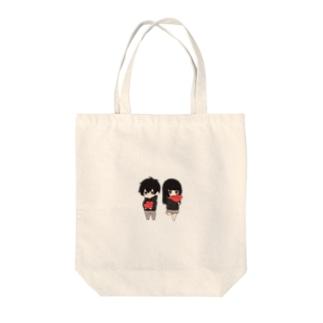 無気力カップル Tote bags