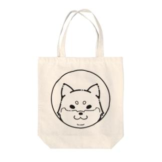 シンプル柴犬 Tote bags