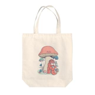 きのこに雨宿り Tote bags