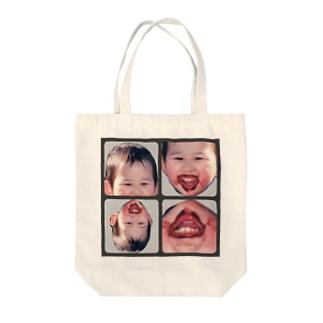チョコまみれの子ども Tote bags