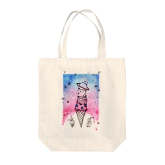 planet icecream Tote bags