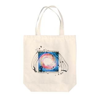 window of space 2 Tote bags
