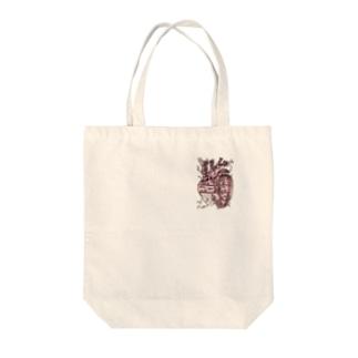 ヒエログリフこころ Tote bags