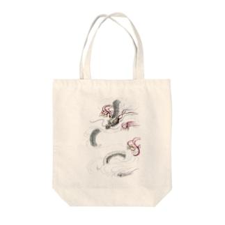 和風ドラゴン Japanese Dragon Tote bags