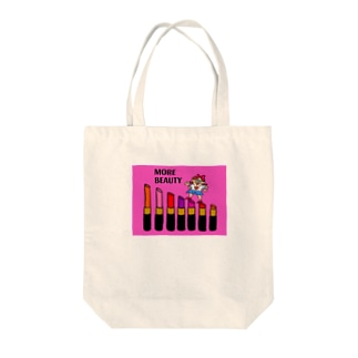 MORE BEAUTY♡. PINK Tote bags