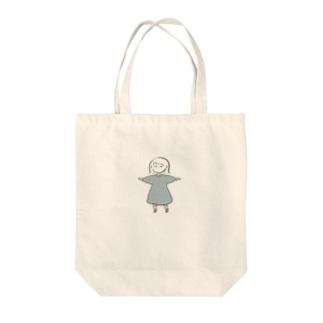 考えた外ハネ女の子 Tote bags