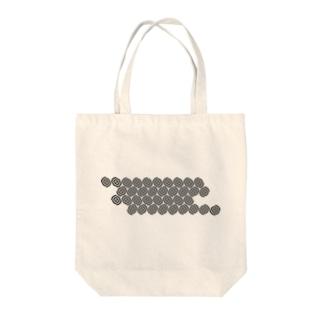 円の幾何学模様。 Tote bags