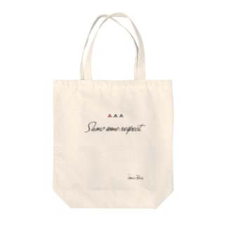 respect Tote bags