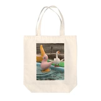 トモダチポーズ Tote bags
